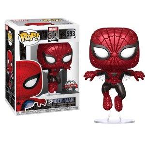 Funko Pop van Spider-Man (Metallic) uit Marvel 593