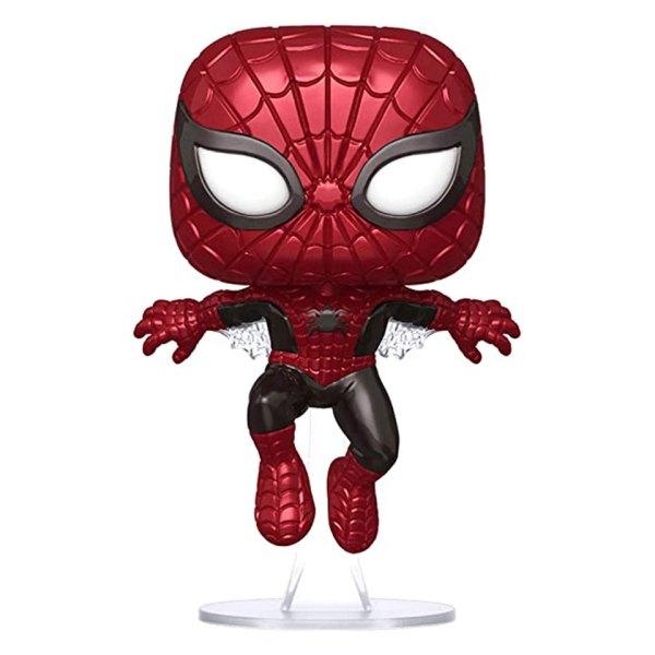 Funko Pop van Spider-Man (Metallic) uit Marvel 593 Unboxed