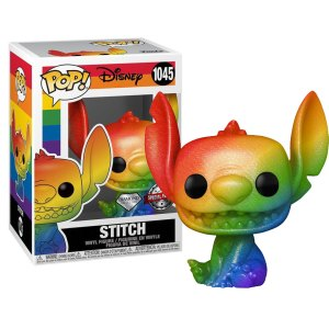 Funko Pop van Stitch (Pride) Diamond Exclusive uit Lilo & Sitch 1045