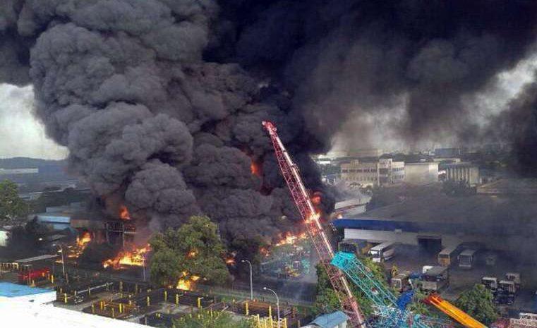 2013 Fire Tuas Incinerator Singapore