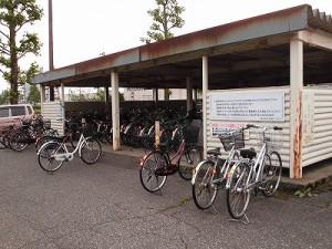 越前花堂駅を知っていますか。 駐輪場近景/どこまでもアマチュア