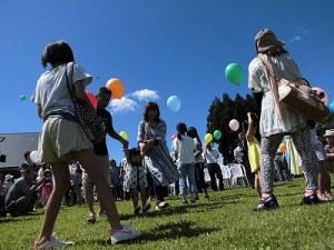 六呂師高原アルプス音楽祭2014 バルーンリリースの準備開始/どこまでもアマチュア