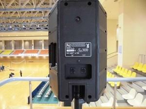 はつらつママさんバレーボールin大野 ELECTRO-VOICE SX300の背面/どこまでもアマチュア