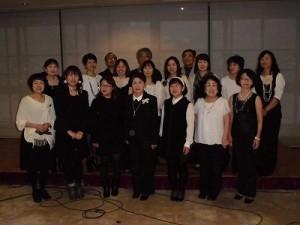 もう最高!クリスマスコンサート2014 in 勝山ニューホテル ゴスペル ウィンディ フレンズの記念撮影/どこまでもアマチュア