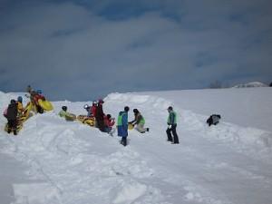 さかだに雪まつり スタート地点付近の様子/どこまでもアマチュア