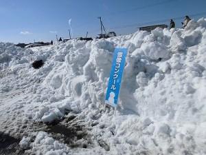 さかだに雪まつり 雪像づくりコンクール コンクール会場へのアプローチ/どこまでもアマチュア