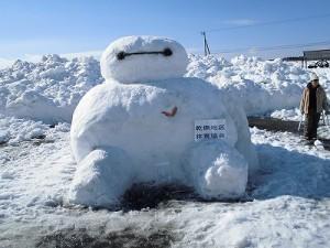さかだに雪まつり 雪像づくりコンクール ベイマックスの雪像/どこまでもアマチュア