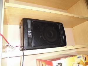 さかだに雪まつり 食堂方面の棚に配置したYAMAHA MS60S/どこまでもアマチュア