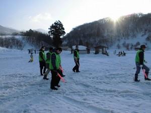 さかだに雪まつり 一所懸命働いていたスタッフ/どこまでもアマチュア
