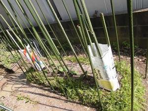 ミニミニ家庭菜園&ミニガーデニング ナスの苗を植えた畝/どこまでもアマチュア