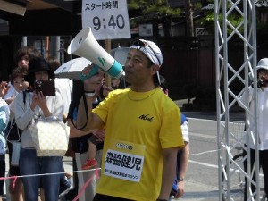 第51回越前大野名水マラソン 語り続けるゲストランナー 森脇 健児氏/どこまでもアマチュア氏