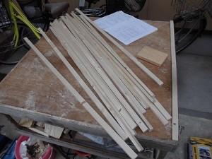 日曜大工自習教室~下手の横好き編~ 丸のこで切り出した桟16本/どこまでもアマチュア