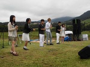 六呂師高原アルプス音楽祭2015 福井大学アカペラサークル ふれんどの若さ溢れるステージ/どこまでもアマチュア