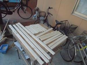 日曜大工教室~我流か自己流か編~骨組み材料の出来上がり/どこまでもアマチュア