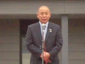 結の故郷 越前おおの 新そばまつり2015 来賓 大野市長 岡田高大氏/どこまでもアマチュア