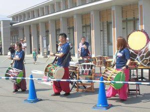 第52回越前大野名水マラソン 地元和太鼓グループ「祥雲」の演奏/どこまでもアマチュア