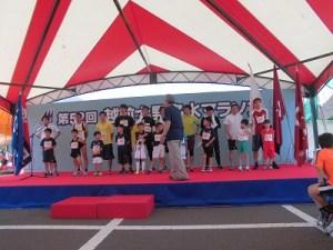 第52回越前大野名水マラソン 入賞者の整列/どこまでもアマチュア