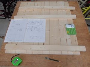 日曜大工教室~我流か自己流か編~ もう1枚の扉の桟の長さを計測/どこまでもアマチュア