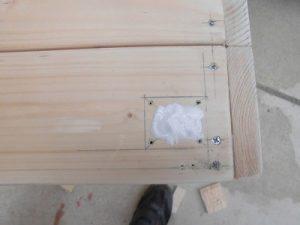 日曜大工教室~我流か自己流か編~ キャスター位置に木工ボンド/どこまでもアマチュア