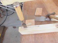 日曜大工教室~基礎からやり直し編~ くぼみ部分はノミで掘る/どこまでもアマチュア