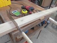 日曜大工教室~基礎からやり直し編~ 途中からマイターボックスを外して木材を切る/どこまでもアマチュア