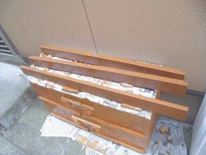 日曜大工教室~基礎からやり直し編~ 切り出した床板にペンキ塗り/どこまでもアマチュア