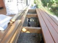 日曜大工教室~基礎からやり直し編~ 床板の取り付け先の根太もペンキ塗り/どこまでもアマチュア
