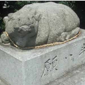 木田神社の願い牛
