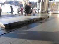 タップダンス用の台の設置
