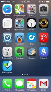 Chase Reeves' iphone home screen on macsparky blog