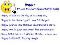 Miss McGlon's Kindergarten - Happy