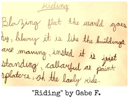 Riding by Gabe F