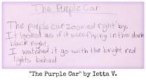The Purple Car by Ietta V.