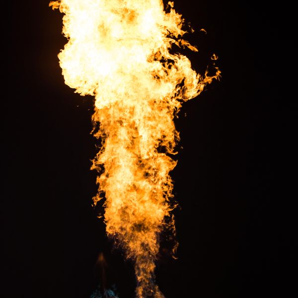 Burners fired from hot air balloon basket