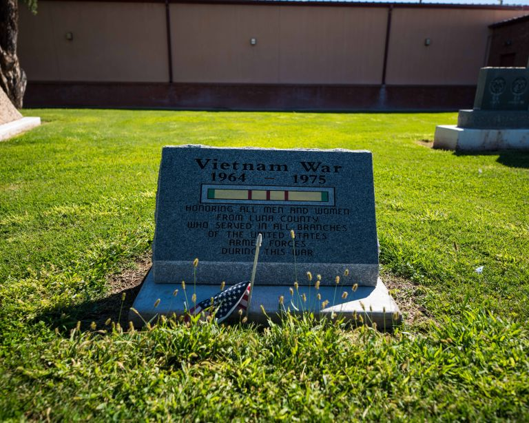 This is a small plaque honoring those in Luna County (Deming is the county seat) who served in the Vietnam War.