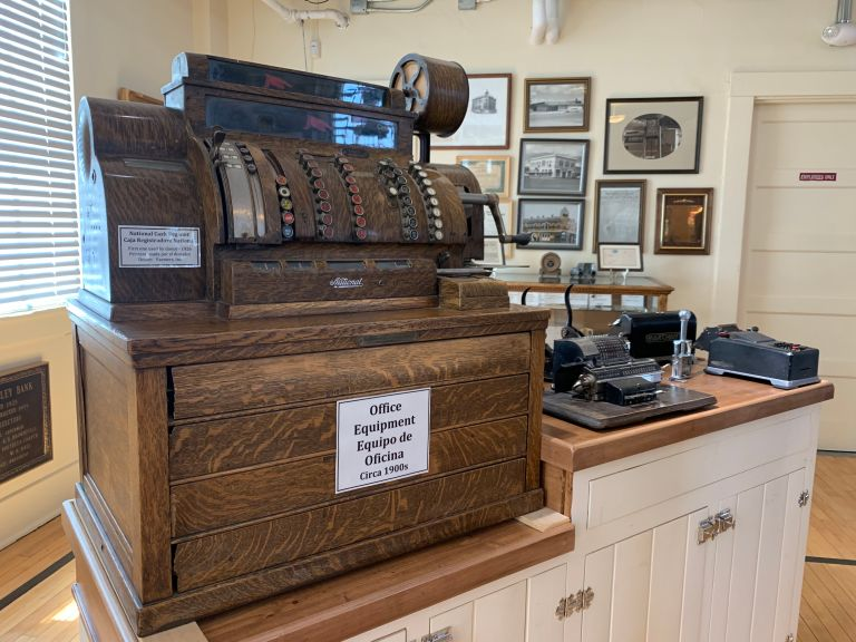 Early 1900s cash register.