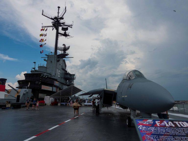 The Top Gun F-14 Tomcat.