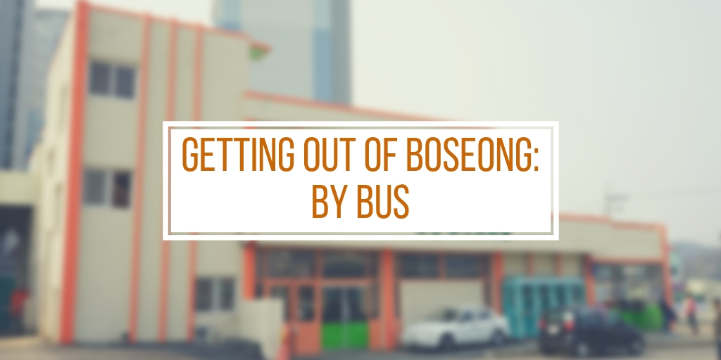 Getting Out of Boseong: By Bus
