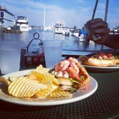 Lobster rolls by the Atlantic
