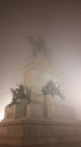 foggy Tursenia, silent hill, statue in the fog