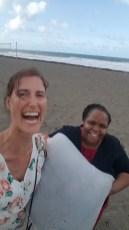 Vanessa und ich mit ihrem Seegras