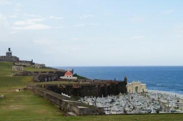 Das Fort mit Friedhof nebenan