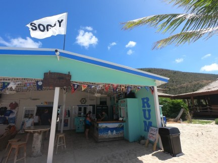 Die berühmte Soggy Dollar Bar