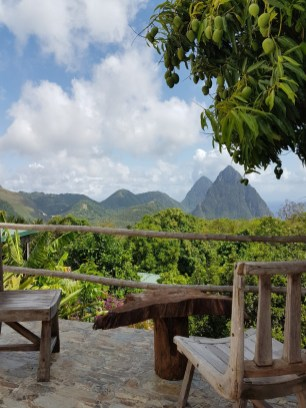 Crystals St Lucia Pitons view