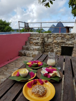 Breakfast at Crystals St Lucia