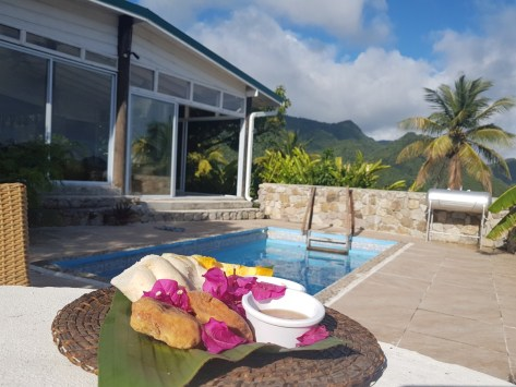 Breakfast at the pool, Crystals St Lucia