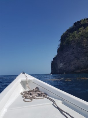 Going on a water taxi in Sufriere, St Lucia