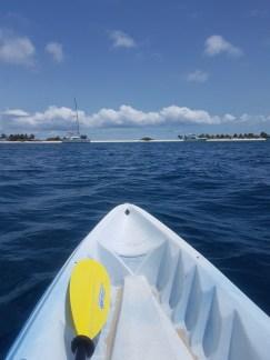 MIt dem Kayak auf nach Sandy Island, gegenüber vom Paradise Beach