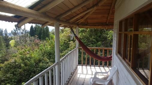 Der Balkon unseres Hummingbird Houses