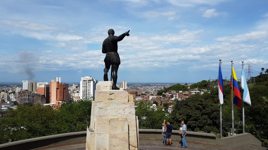 Statue des Stadtgründers Sebastián de Belalcázar